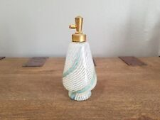 Vintage Murano Glass Mezza Filigrana Perfume Bottle Vase By Dino Martens
