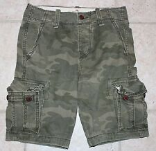 NWT Hollister Mens Size 28 Button Fly Camoflage Camo Cargo Shorts
