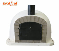 Outdoor wood fired Pizza oven 100cm x 100cm Deluxe extra model black and grey