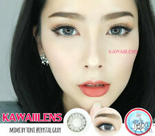 Contact Lenses GEO Color Soft Big Eye Cosplay UV Protection Lens Crystal Gray