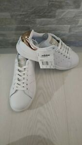 Adidas stan smith donna 38 nuove bianco bronzo SCARPE sneakers sport running