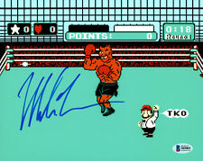 MIKE TYSON AUTHENTIC AUTOGRAPHED SIGNED 8X10 PHOTO PUNCH-OUT BECKETT BAS 159661