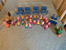 Peppa Pig Bundle-escuela, Conjunto de juego más cargas de figuras