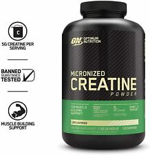 Optimum Nutrition Micronized Creatine Monohydrate Powder,Unflavored 120 Servings