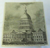1882 magazine engraving ~ FEDERAL CITIES & CAPITOLS OF US, Washington DC