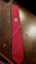 Vintage Austico City Of Moe Logo Red Stripe Designer Mens Neck Tie