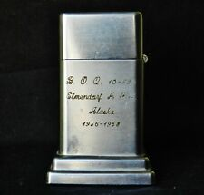 1956 Zippo US Air Force Elmendorf Alaska AFB Regimental Barcroft Table Lighter