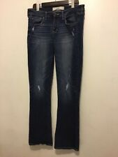 ABERCROMBIE & FITCH Size 10R 30X33 Denim BLue Jeans the A&F Skinny Boot Cut