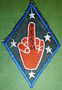 Patch - 1st MARINE DIVISION - Southern Cross - Middle Finger - Vietnam War, 5876