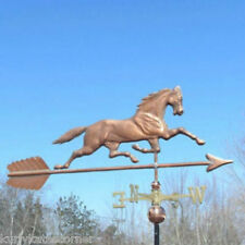 "MASSIVE 52"" COPPER ""HORSE"" WEATHERVANE MADE IN USA #197"