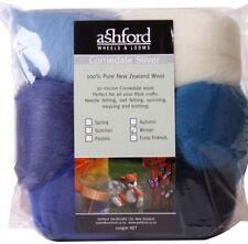"FIBRE PACK  ""WINTER"" 7 colour pack of our popular 30 micron Corriedale BluePurpl"