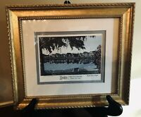 Charleston, SC RUTLEDGE AVE on COLONIAL LAKE Open Edition Print Signed Framed