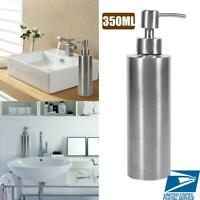 350ml Stainless Steel Soap Dispenser Kitchen Sink Bathroom Shampoo Box Container