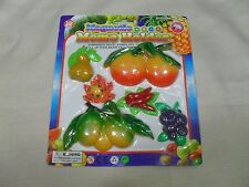 Set of 6 Magnetic Memo Holders/ Refrigerator Magnets Fruit & Vegetable Shape (#4