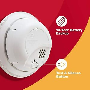 9120LBL BRK First Alert SMOKE ALARM AC POWERED w/ 10 Year Sealed Battery Backup