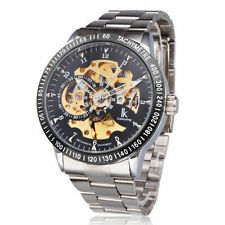 Auto Mechanical Watch Men Russian Diver Mechanical Black Dial Silver Steel Band