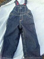 Oshkosh Blue Corduroy Flannel Lined Overalls Vintage 24 Months Vestback