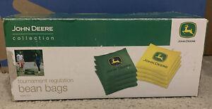 John Deere Cornhole Bean Bags Set of 8 Tournament Regulation Official -438g 16oz