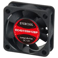 EverCool 40mmx40mmx15mm  4Pin PWM Fan, (EC4015SH12BP)