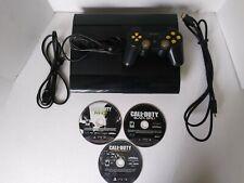 Black Sony PlayStation 3 Model CECH-4001C Super Slim Bundle,WirelessController