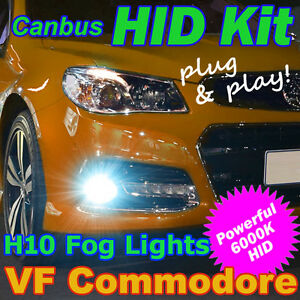 Plug-and-Play 6000K HID Kit to Suit Holden VF Commodore SSV Calais-V Fog Lights