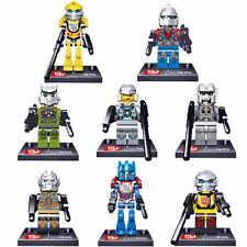 Hot 8pcs Set Transformers Lot Figures Blocks Bricks Toys Optimus Hound Bumblebee