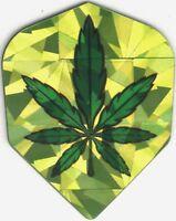 Throwback Pot Leaf Dart Flights: 3 per set