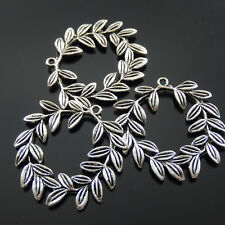 **4pcs Antique Silver Olive Garland Shape Charms Pendant 38*37*3mm 37595