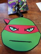 NEW! TMNT Ninja Turtles Raph Raphael Red Luggage Tag Bag Tag BIG 4 x 4.5in RARE!