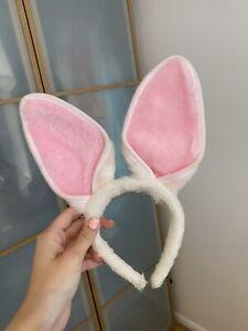 Girls White Fancy Dress Bunny Ears