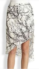 Haute Hippie Abstract Print Asymmetrical Side Draping Skirt $395 Size XS