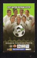 Eastern Michigan Eagles--2007 Soccer Pocket Schedule