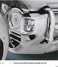 Honda Goldwing GL1800 Chrome Lower Cowl with rectangular fog light openings