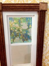 Blue Wisteria Dollhouse Miniature Victorian  Stained Glass Window Film