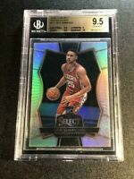 BEN SIMMONS 2016 PANINI SELECT #141 SILVER PRIZMS REFRACTOR ROOKIE RC BGS 9.5 10