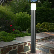 LED Steh Leuchte Grundstück Garten Strahler Beleuchtung Säulen Stand ALU Lampe