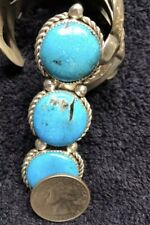 Huge NAVAJO Turquoise Sterling  Silver Ring size 7.5