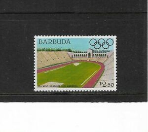 1984 Barbuda - Olympic Games Stadiums - Los Angeles - Single - Unhinged Mint..