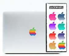 8x Macbook Air Pro Vinyl Sticker Decal Logo Rainbow Apple Logo PACK COLOR x8