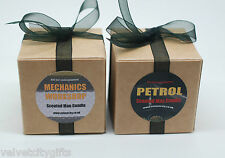 2 Man Candles Gift Petrol & Motor Oil Scented Candles for Men Unusual Gift (SM)