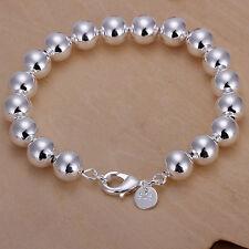 Wholesale 925Sterling Silver Hollow Buddha Bead Prayer Woman Bracelet 10MM HA136