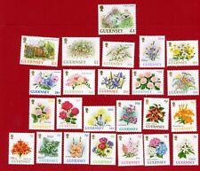 SG562/82a Set of 24 Guernsey 1992/7 - Guernsey Flowers