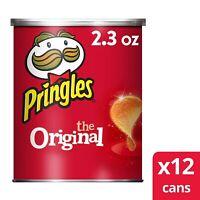 Pringles The Original Potato Crisps. 2.36 oz( 12 Cans)