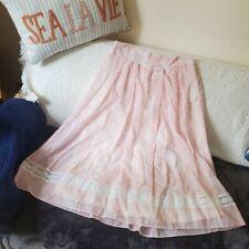New listing Vintage 70s Gunne Sax Gunnies Pink Prairie Skirt Size 13 / Modern Size 6