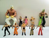 WRESTLERS lot of 10  vintage action figures jakks pacific wwe wwf wrestling