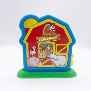 1994 Fisher Price Barnyard Bingo Game Replacement Pieces Barn and Stand Only