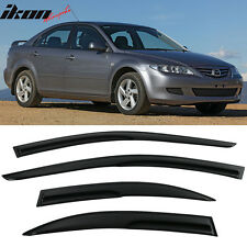 03-08 Mazda 6 Sedan Smoked Aero JDM Wind Deflectors Stick On Window Visors