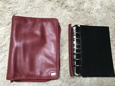 Pocket Red Nappa Leather Franklin Covey Planner 7 Ring Binder