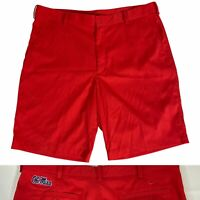 Men's Nike Golf Ole Miss Rebels Shorts Size 36 Red Embroidered Logo Nice!
