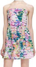 NEW with tags AMANDA UPRICHARDstrapless geometric holographic dress US size 4